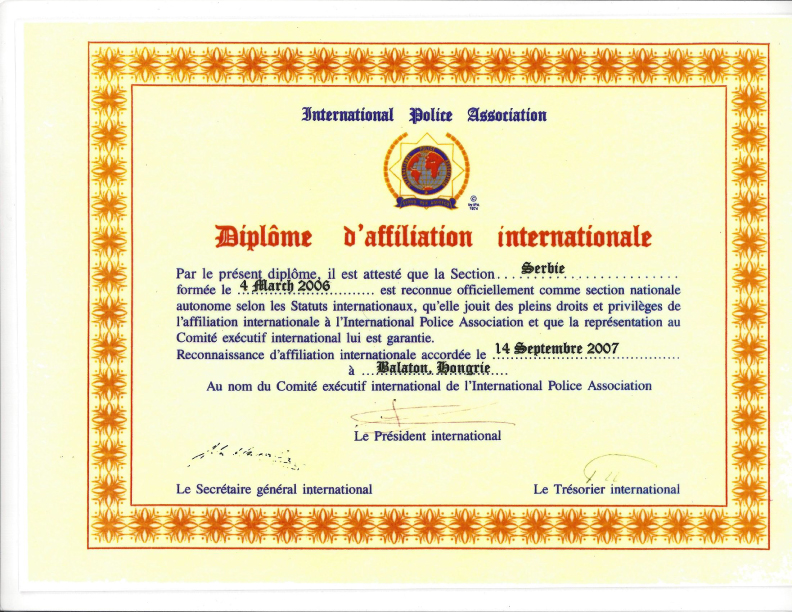 IPA sertifikat